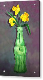 Pop Bottle Daffodil Acrylic Print