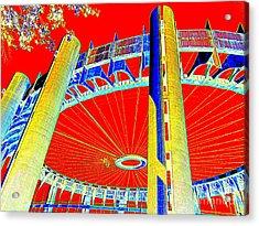 Pop Goes The Pavillion Acrylic Print by Ed Weidman