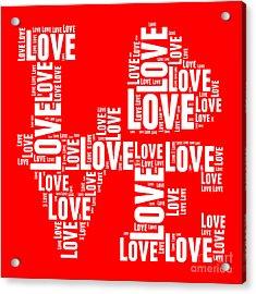 Pop Love 6 Acrylic Print