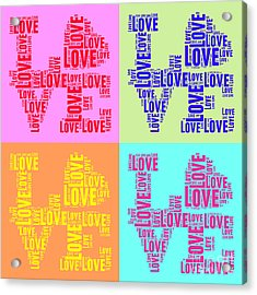 Pop Love Collage Acrylic Print
