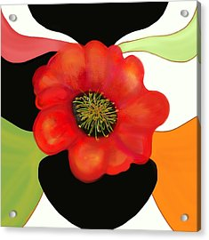 Pop Poppy Acrylic Print