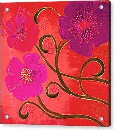 Pop Spring Purple Flowers Acrylic Print