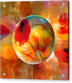 Acrylic Print featuring the painting Pop Twombly by Robin Moline