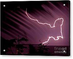 Popa Island Lightning Acrylic Print