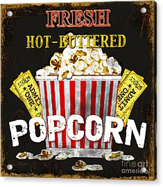 Popcorn Please Acrylic Print by Jean Plout