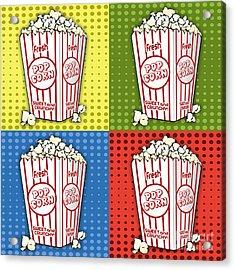 Popcorn Pop Art-jp2375 Acrylic Print