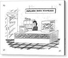'popcorn-soda-hankies' Acrylic Print