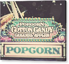 Popcorn Stand Carnival Photograph From The Summer Fair Acrylic Print by Lisa Russo