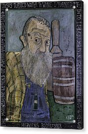 Acrylic Print featuring the painting Popcorn Sutton - Heaven's Bootlegger by Eric Cunningham