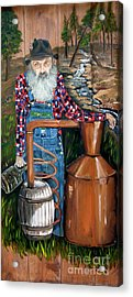 Acrylic Print featuring the painting Popcorn Sutton - Moonshiner - Redneck by Jan Dappen