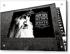 Popcorn Sutton's Tennessee White Whiskey Acrylic Print by Dan Sproul