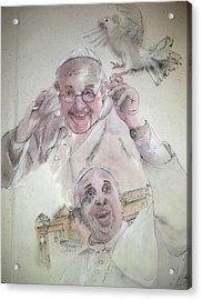 Pope Francis Album Acrylic Print by Debbi Saccomanno Chan
