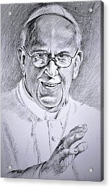 Pope Franciscus Acrylic Print by Henryk Gorecki