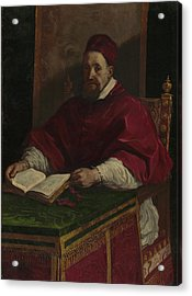 Pope Gregory Xv Guercino Giovanni Francesco Barbieri Acrylic Print by Litz Collection