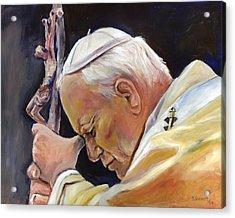 Pope John Paul II Acrylic Print by Sheila Diemert