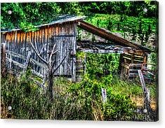 Farm - Barn - Pope - Water Valley Barn Acrylic Print by Barry Jones