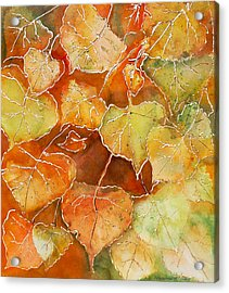 Poplar Leaves Acrylic Print by Susan Crossman Buscho