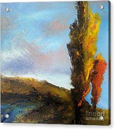 Poplars Acrylic Print