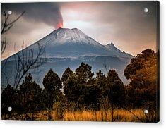 Popocatepetl Volcano From Puebla State Acrylic Print by ©fitopardo.com