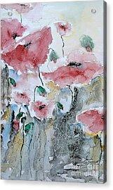 Poppies 01 Acrylic Print by Ismeta Gruenwald