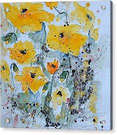 Poppies 02 Acrylic Print by Ismeta Gruenwald