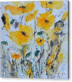 Poppies 03 Acrylic Print by Ismeta Gruenwald