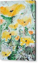Poppies 07 Acrylic Print by Ismeta Gruenwald