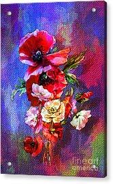 Poppies Acrylic Print by Andrzej Szczerski