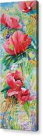 Poppies At Play Acrylic Print