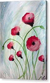 Acrylic Print featuring the painting Poppies by Carol Duarte