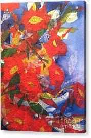 Poppies Gone Wild Acrylic Print
