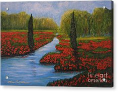 Poppies Guards Acrylic Print