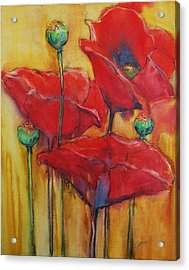 Acrylic Print featuring the painting Poppies IIi by Jani Freimann