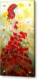 Acrylic Print featuring the painting Poppies Lady by Dorothy Maier