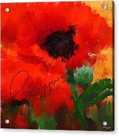 Poppies Acrylic Print by Lourry Legarde