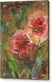 Poppies Acrylic Print by Mary Wolf