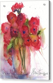Poppies Acrylic Print by Sherry Harradence