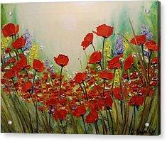 Poppies Acrylic Print by Svetla Dimitrova
