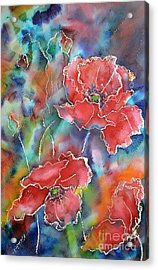 Poppy Abstract Acrylic Print