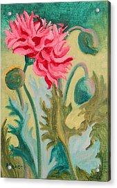 Poppy Abstract Acrylic Print