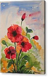 Poppy Blossom 2 Acrylic Print by Shakhenabat Kasana