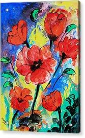 Poppy Blossom Acrylic Print by Shakhenabat Kasana