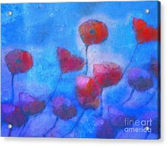 Poppy Blues Acrylic Print by Lutz Baar