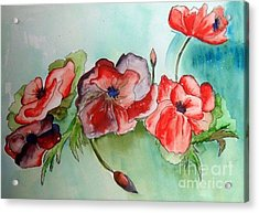 Poppy Bouquet Acrylic Print