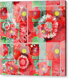 Poppy Collage Acrylic Print