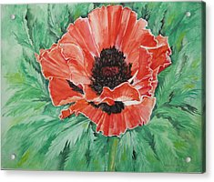Acrylic Print featuring the painting Poppy by Ellen Canfield