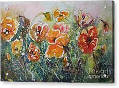 Poppy Field Acrylic Print