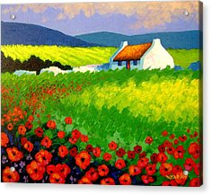 Poppy Field - Ireland Acrylic Print