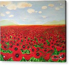 Poppy Fields Acrylic Print
