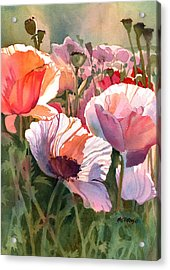 Poppy Madness Acrylic Print by Kris Parins